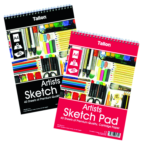 Tallon Artist Sketch Pad 40 Sheet A4 (6 Pack) TAL05682