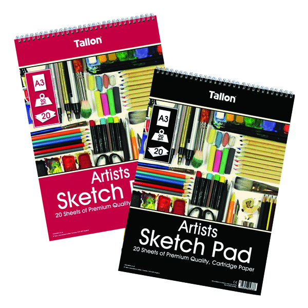Tallon Artist Sketch Pad 20 Sheet A3 (6 Pack) TAL05683