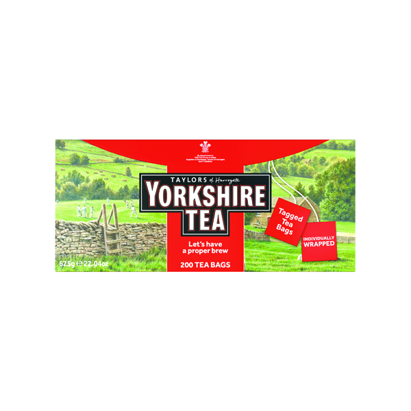 Yorkshire Tea Tagged and Enveloped (200 Pack) 2685UK