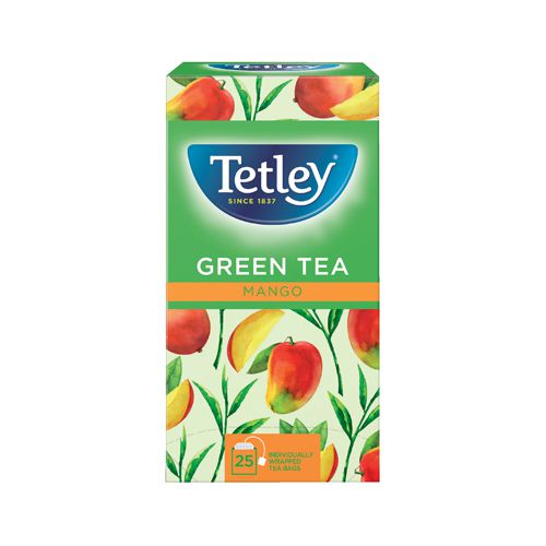 Tetley Green Tea with Mango (Pack of 25) 1578A