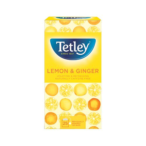 Tetley Lemon And Ginger Tea Bags (Pack of 25) 1571A