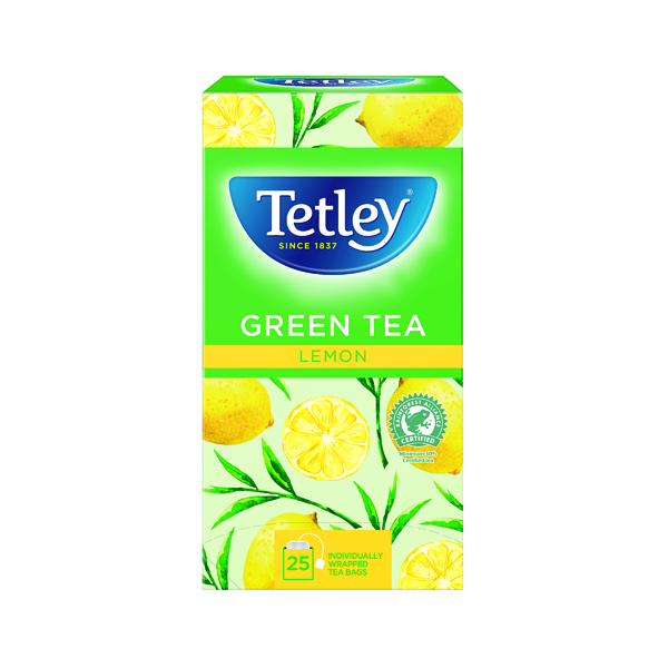 Tetley Green Tea With Lemon Tea Bags (25 Pack) 1571A