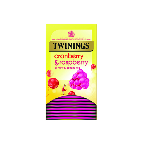 Twinings Cranberry, Raspberry and Elderflower Tea Bags (20 Pack) F14381