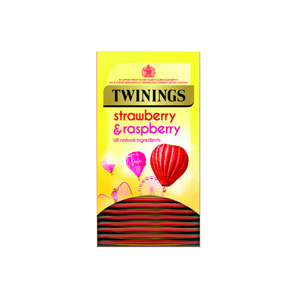 Twinings Strawberry and Raspberry (20 Pack) F14377