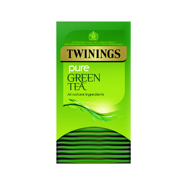 Twinings Pure Green Tea Bags (20 Pack) F09542