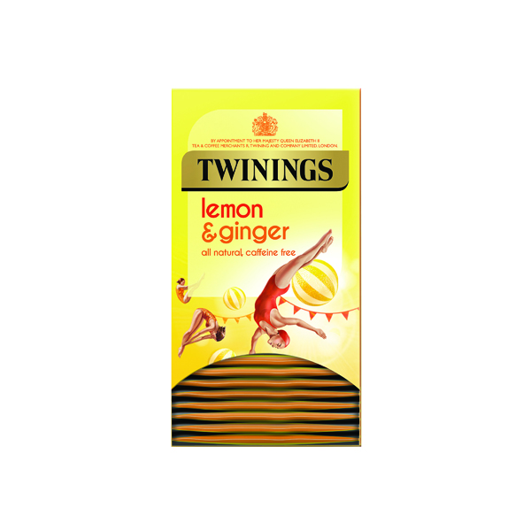 Twinings Lemon & Ginger Fruit Infusion Tea Bags (20 Pack) F09613
