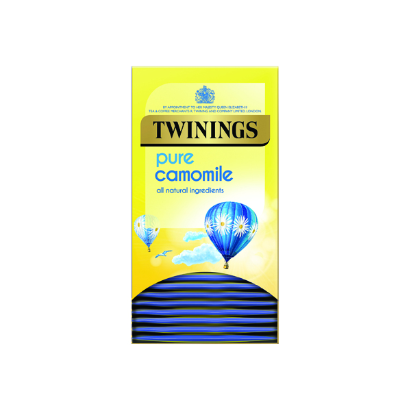 Twinings Pure Camomile Herbal Infusion Tea Bags (20 Pack) F14379