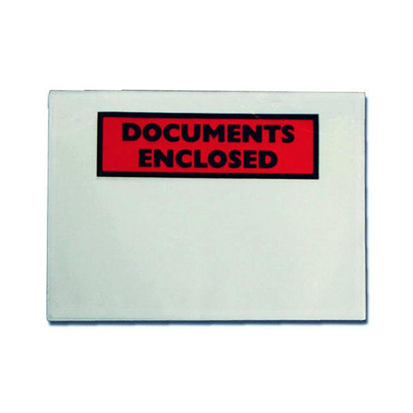 Documents Enclosed Self-Adhesive DL Document Envelopes (Pk 100 Pack) 9743DLDE01