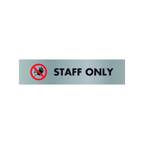 Acrylic Sign StaOnly Aluminium 190x45mm SR22365