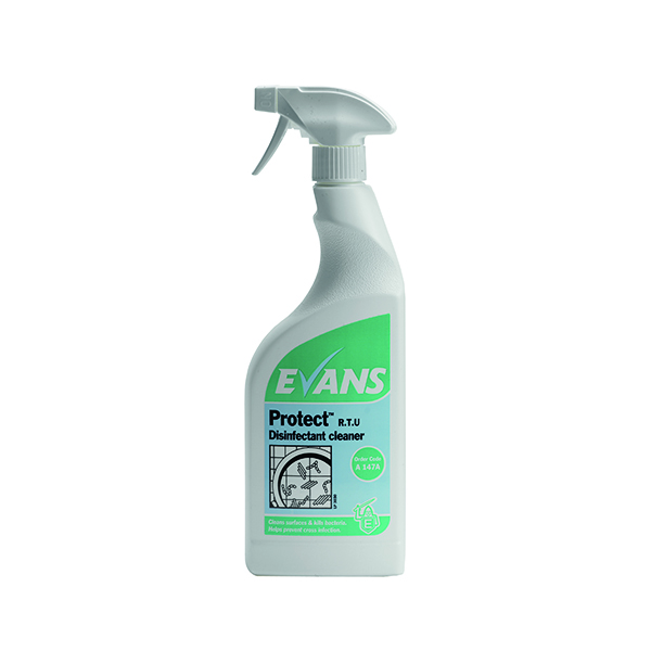 Evans Protect Ready-to-Use Disinfectant Cleaner 750ml (6 Pack) A147AEV