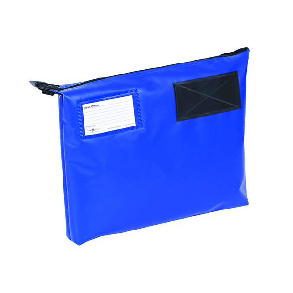 Go Secure Blue 381x336x76mm Mail Pouch GP1B H8526