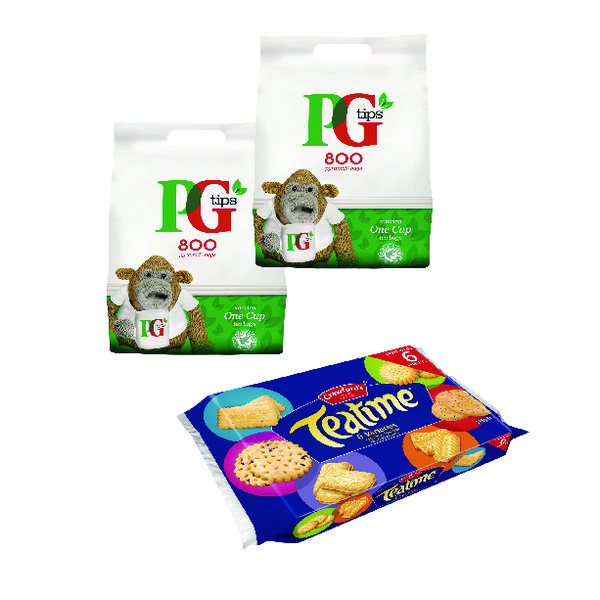PG One Cup Pyramid Tea Bags (800 Pack) Buy 2 Get Free Biscuits VF819644