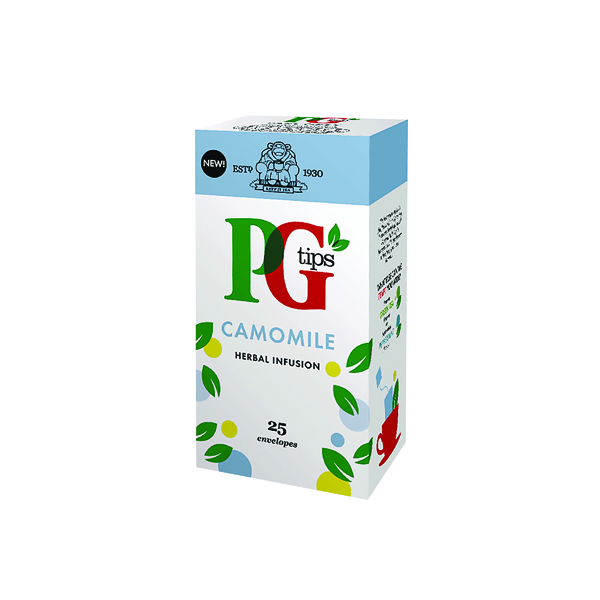 PG Tips Camomile Envelope Tea Bags (25 Pack) 49095901
