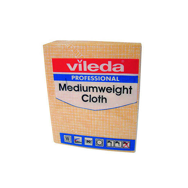 Vileda Yellow Medium Weight Cloth (10 Pack) 106402