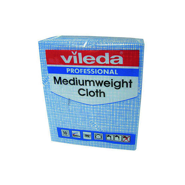 Vileda Blue Medium Weight Cloth (10 Pack) 106399