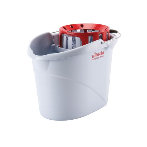 Vileda Red Supermop Bucket with Wringer (Pack of 1) 138925
