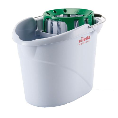 Vileda Green Supermop Bucket with Wringer (Pack of 1) 138926