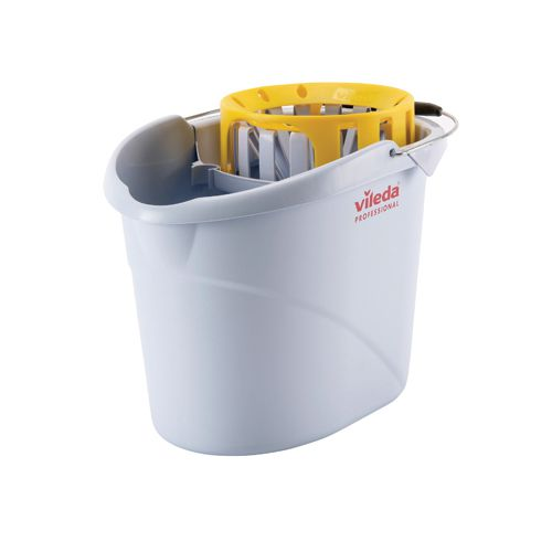 Vileda Yellow Supermop Bucket with Wringer (Pack of 1) 138927
