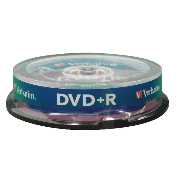 Verbatim DVD+R 16x 4.7GB Non-Printable Spindle (10 Pack) 43498