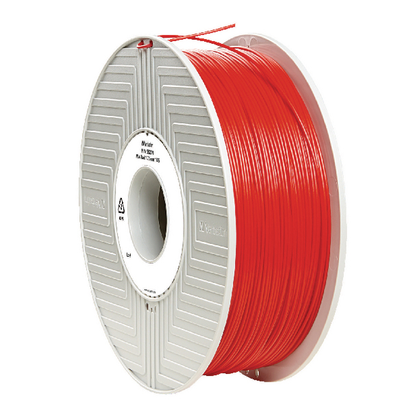 Verbatim PLA 3D Printing Red Filament 1.75mm 1kg Reel 55270