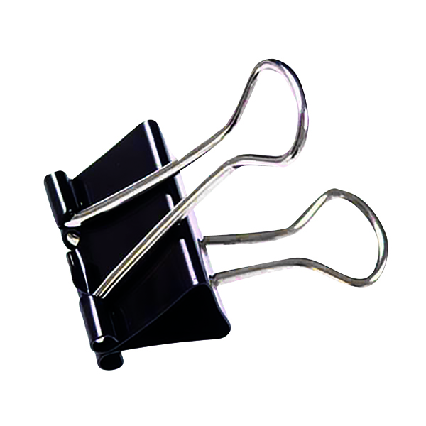 25mm Black Foldback Clip (100 Pack) 22781