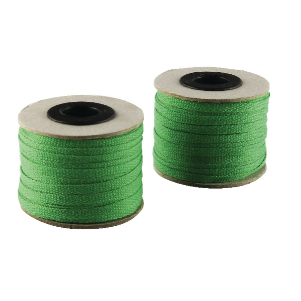 China Ribbon Cotton Green Roll 4mm x 30m (4 Pack) 9702004EME30