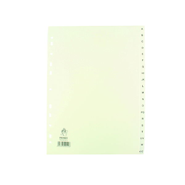 A4 White A-Z Polypropylene Index WX01351