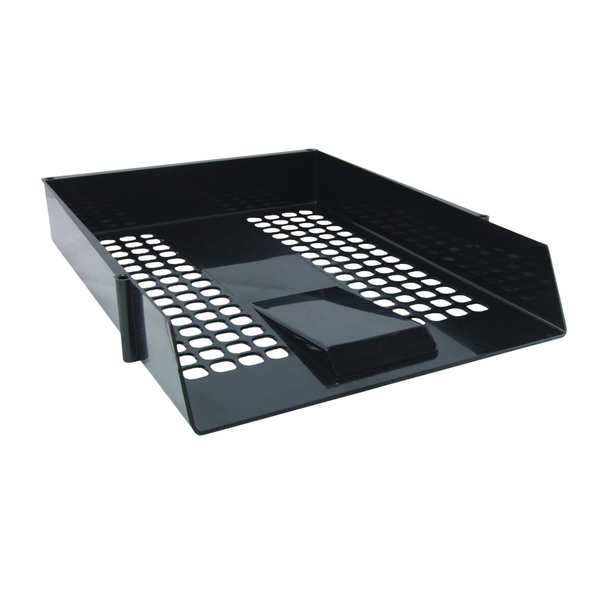 Black Plastic Letter Tray (12 Pack) WX10050
