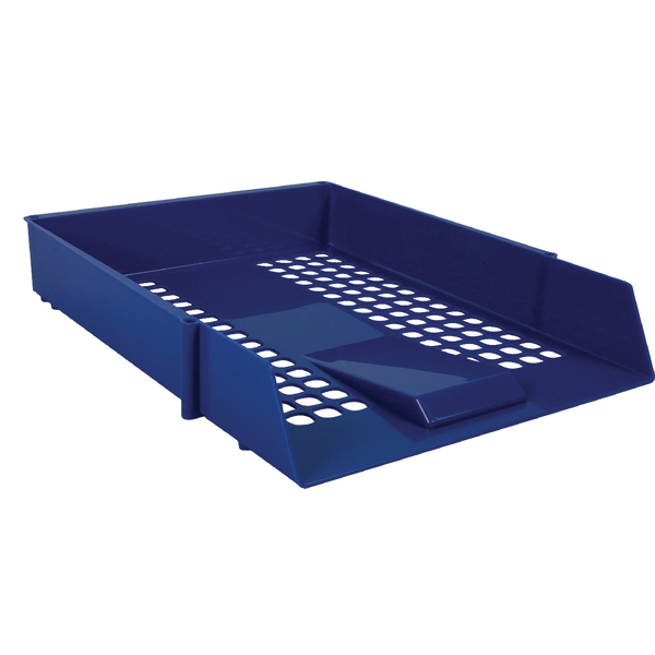 Blue Plastic Letter Tray (12 Pack) WX10052
