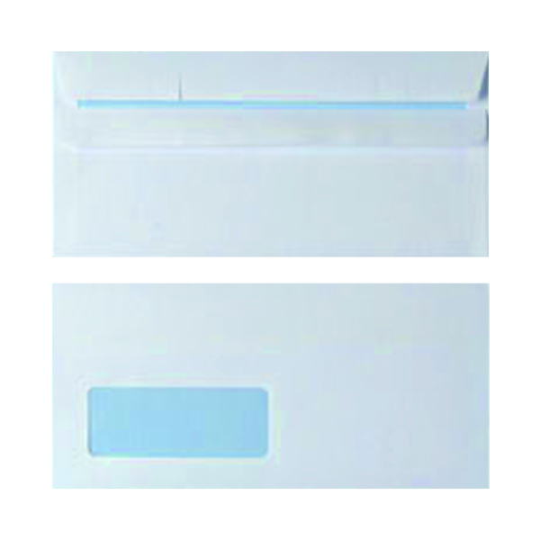 DL Window Envelope 90gsm White Self Seal (1000 Pack) WX3481