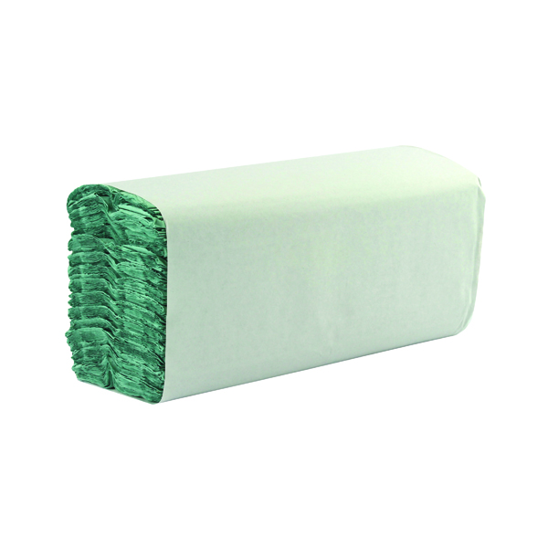 1-Ply Green C-Fold Hand Towels (2850 Pack) WX43094