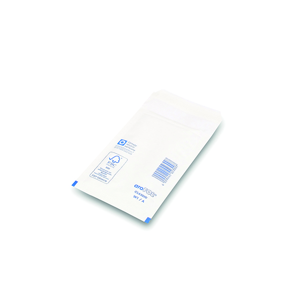 Bubble Lined Envelope Size 1 100x165mm White (100 Pack) XKF71447