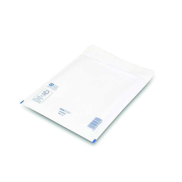 Bubble Lined Envelope Size 5 220x265mm White (100 Pack) XKF71450
