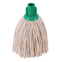 2Work 12oz PY Smooth Socket Mop Green Pack of 10 PJYG1210I