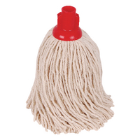2Work 14oz PY Smooth Socket Mop Red Pack of 10 PJYR1410I