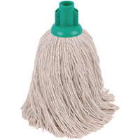 2Work 14oz Twine Rough Socket Mop Green Pack of 10 PJTG1410I