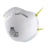 3M FFP1 Unvalved Disposable Cup Respirator (Pack of 10) 8310