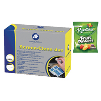 AF Screen-Clene Anti-Static Screen Wipes FOC Fruit Pastilles 160g AFI838855
