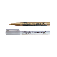 Artline Gold/Silver Calligraphy Marker Pens (Pack of 6) EK-993-W6