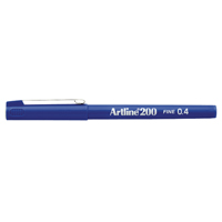 Artline 200 Blue Fineliner Pen (Pack of 12)