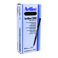Artline 200 Fineliner Green Pen (Pack of 12) EK200GR