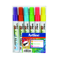 Artline Assorted Glassboard Marker Fine (Pack of 6) EPG-4W6ASS