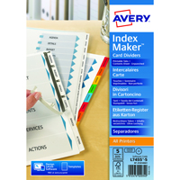 Avery Index Maker Divider 5-Part Unpunched 01814061