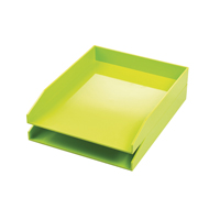 Avery ColorStak Cool Green Letter Tray (Pack of 2) CS101