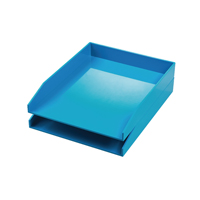 Avery ColorStak Cool Blue Letter Tray (Pack of 2) CS102