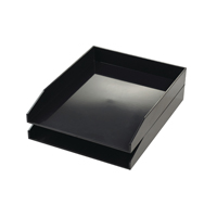 Avery ColorStak Letter Tray Cool Black (Pack of 2) CS104