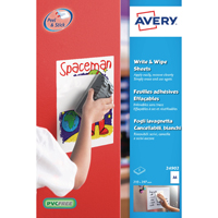 Avery Write/Wipe A4 Sheets White (Pack of 5)
