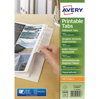 Avery Divider Printable Tabs White 05412061 Pack of 96