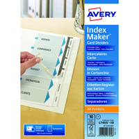 Avery Index Maker A4 Extra-Wide 5-Part White Divider 01998051