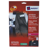 Avery Self-Adhesive Name Badge 27TV White L4784-20 Pack of 540